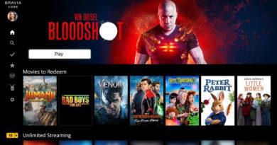 Platforma BRAVIA CORE zapewnia dostęp do najnowszych produkcji Sony Pictures Entertainment